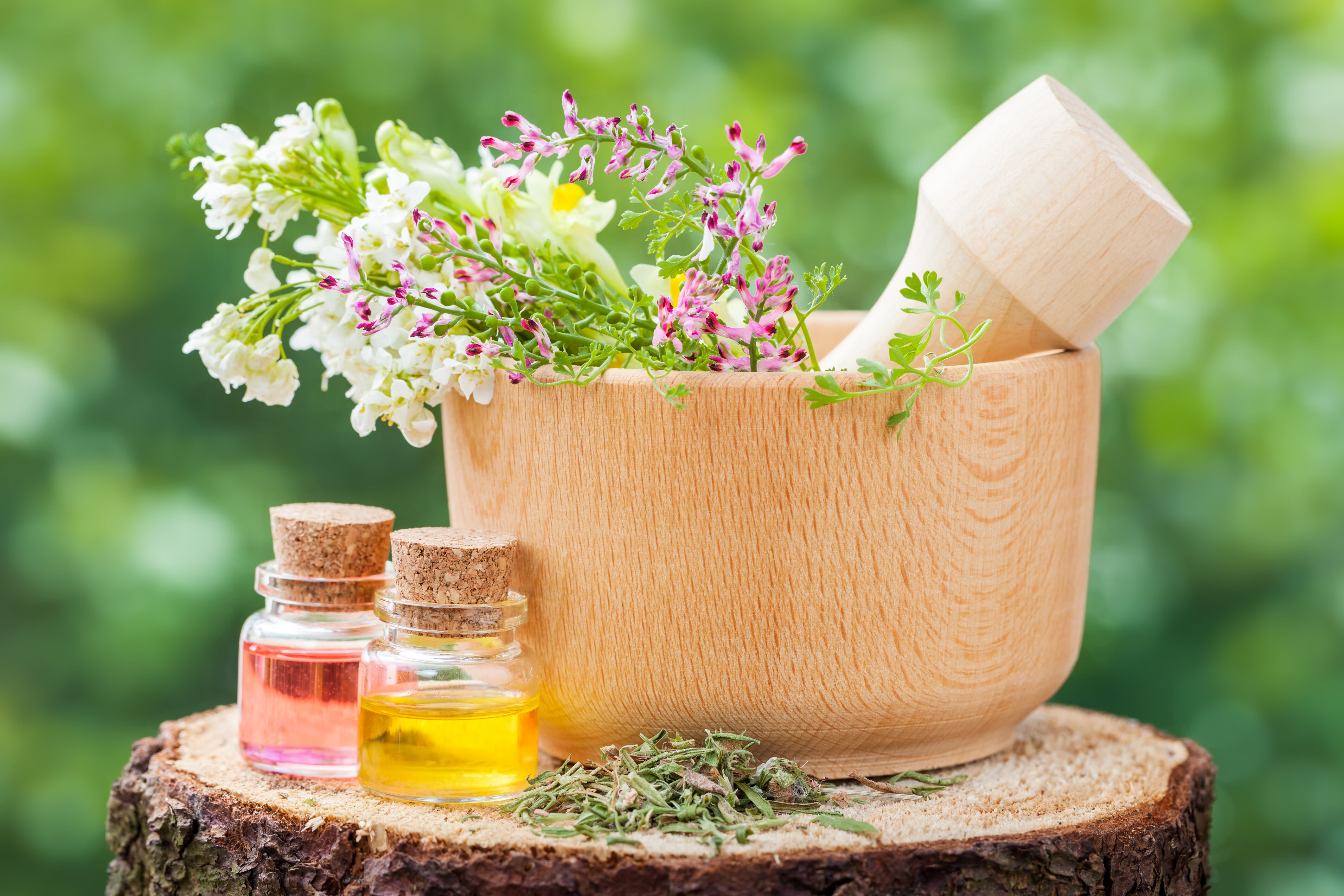 Herbs and oils