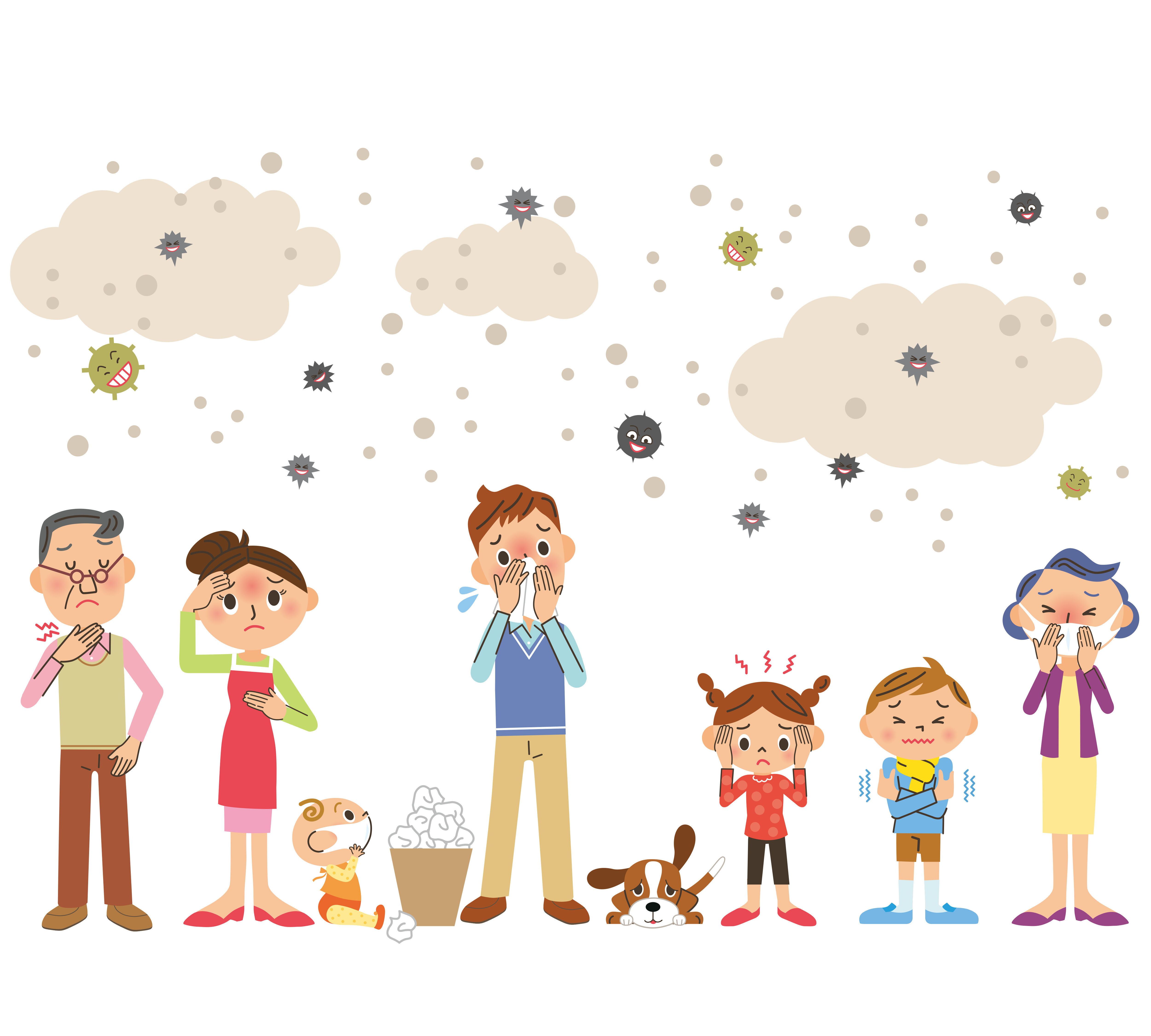 The family suffers from allergies