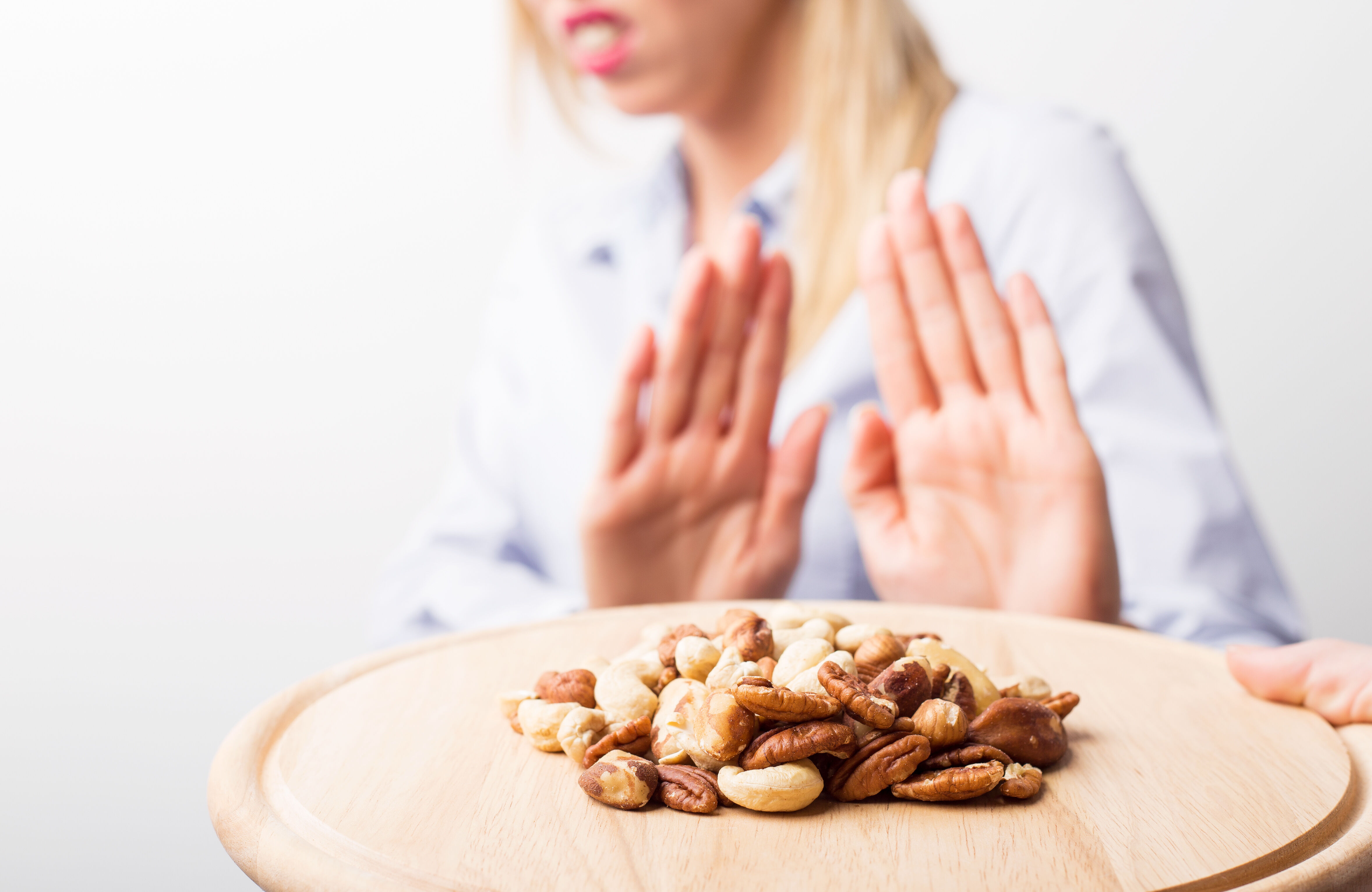 Woman refuses nuts
